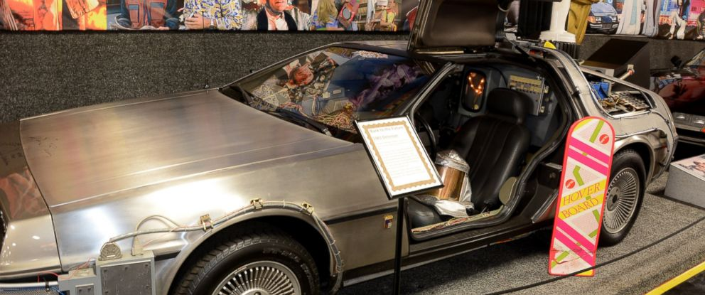 """PHOTO: The 1981 exhibition model of the """"Back to the Future"""" Delorean Time Machine car is pictured here."""