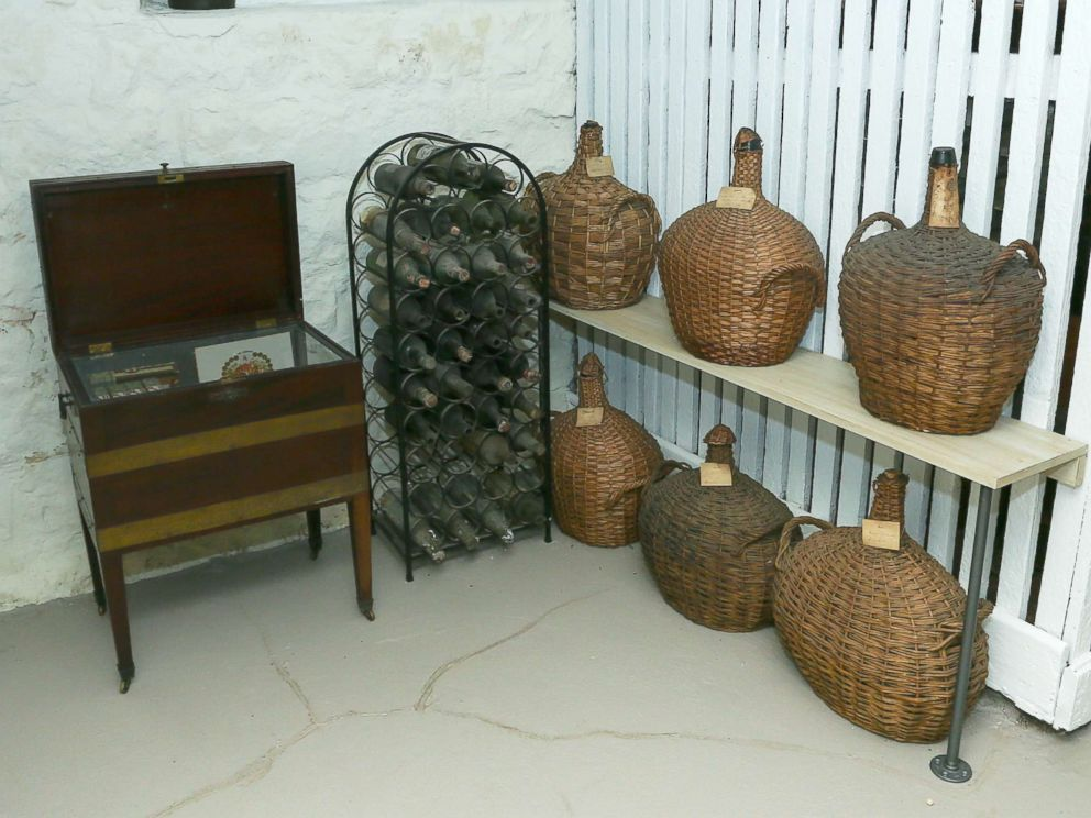 PHOTO: Demijohn casks on display at the Liberty Hall Museum in New Jersey.