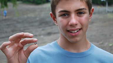 PHOTO: Michael Dettlaff, 12, found a brown diamond weighing 5.16 carats at Crater of Diamonds State Park in Arkansas on July 31.