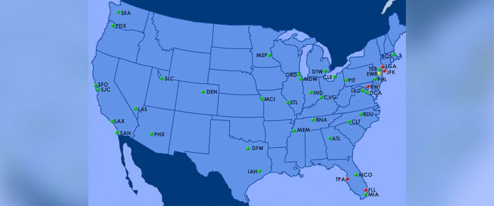Faa System Back In Service After Air Traffic Center Problem Delays - Us-air-traffic-map