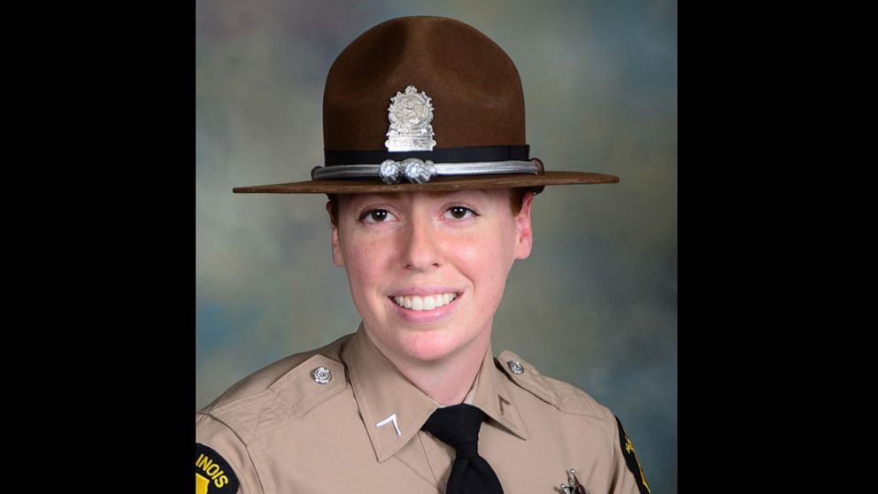 Illinois state trooper Brooke Jones-Story, 34, was conducting a traffic stop on the shoulder of U.S. Highway 20 on Thursday, March 28, 2019, when a truck crashed into her.