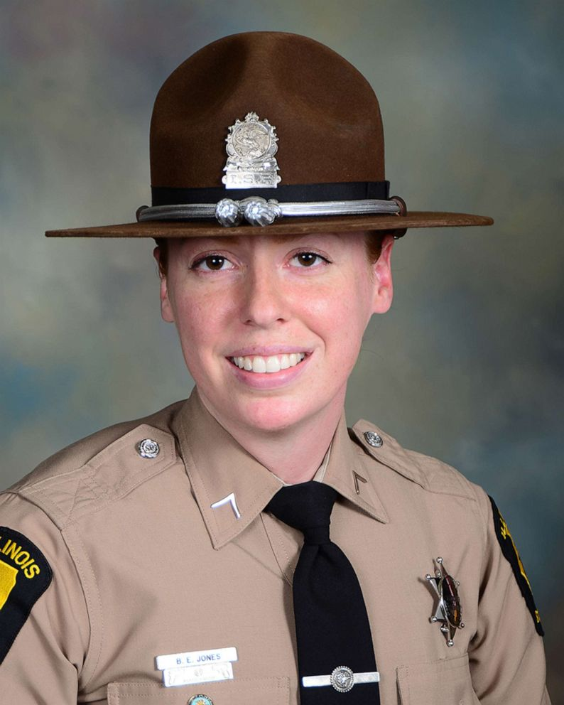 Illinois state trooper Brooke Jones-Story, 34, was conducting a traffic stop on the shoulder of U.S. Highway 20 on March 28, 2019, when a truck crashed into her.