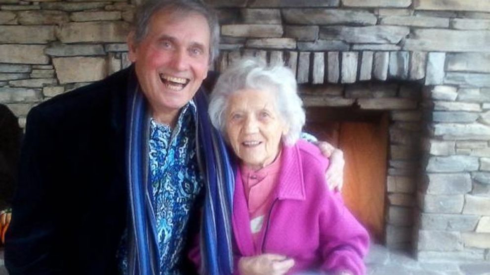 Filimina Rotundo, 100, and her son Gary Rotundo, 74, are pictured together here.