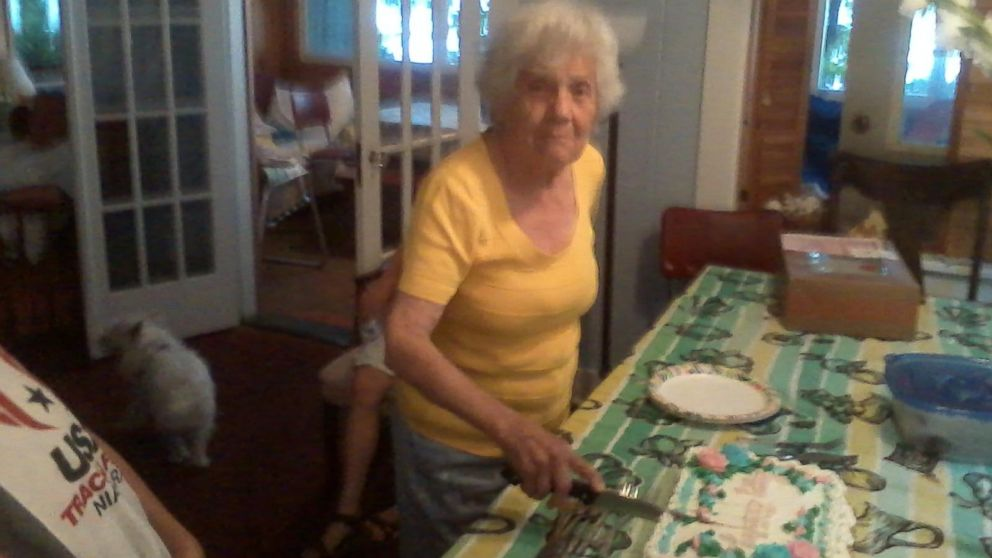 Filimina Rotundo is pictured here at her 100th birthday party