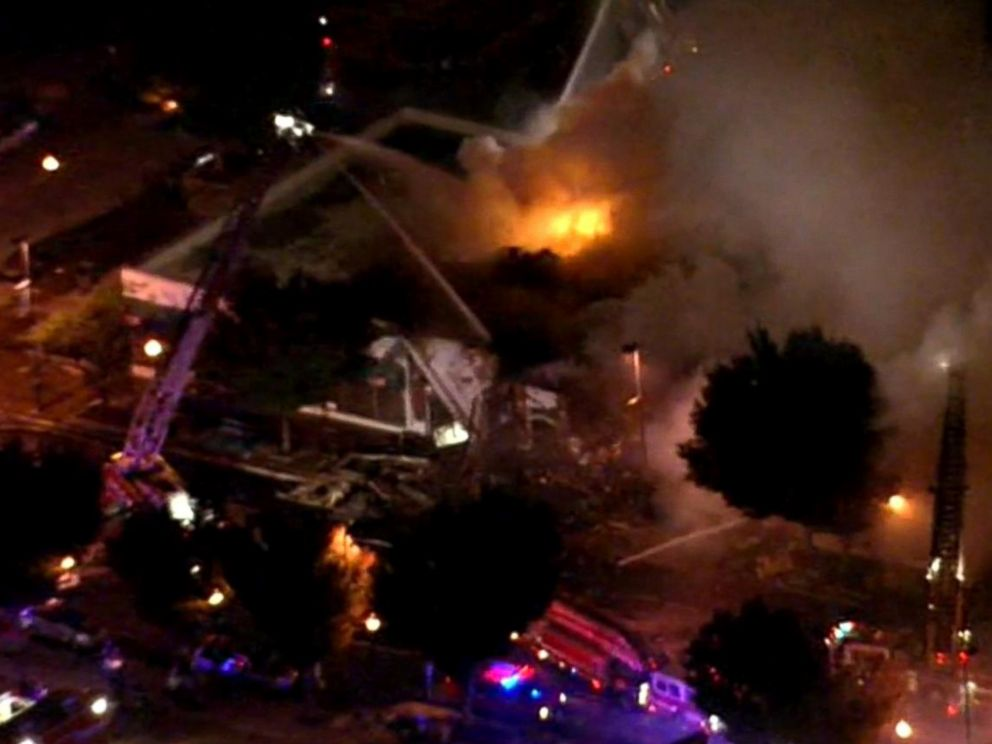 PHOTO: Two firefighters were killed while fighting a blaze in Kansas City, Missouri, Oct. 12, 2015.