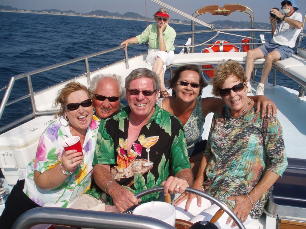 PHOTO:The memory card preserved 19 photos of Deborah Hays, her husband and their friends on a boat trip in August 2013.