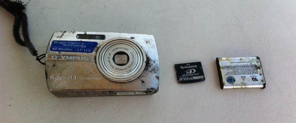 PHOTO:Andre Monterio Da Rocha found this camera while fishing in Lake Michigan near Grand Haven, Mich.