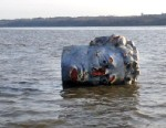 PHOTO: The crew team at Marist college came across a mysterious Styrofoam head floating in the Hudson River on April 23, 2013.