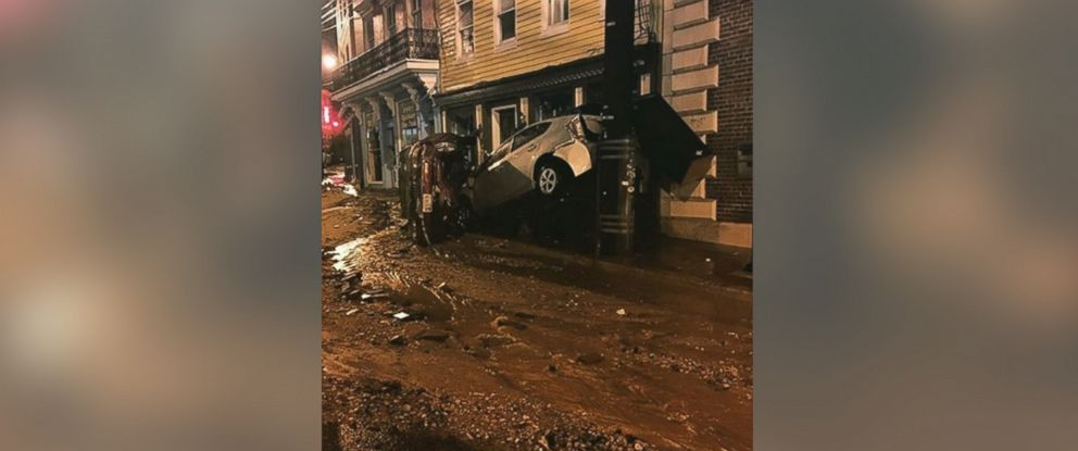 PHOTO: tonysant0 posted this photo to Instagram on July 30, 2016 showing flooding on Main Street in Ellicott City, Maryland.