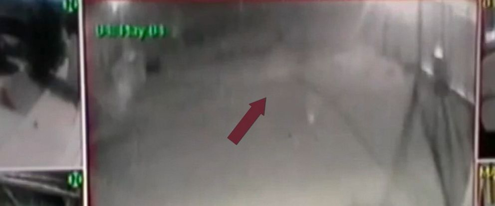 PHOTO: A figure believed by some to be a ghost is seen on surveillance video