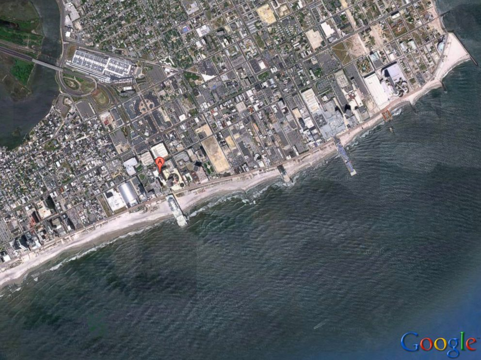 PHOTO: Caesars Casino in Atlantic City, N.J. is seen in this map at the above location on the boardwalk.