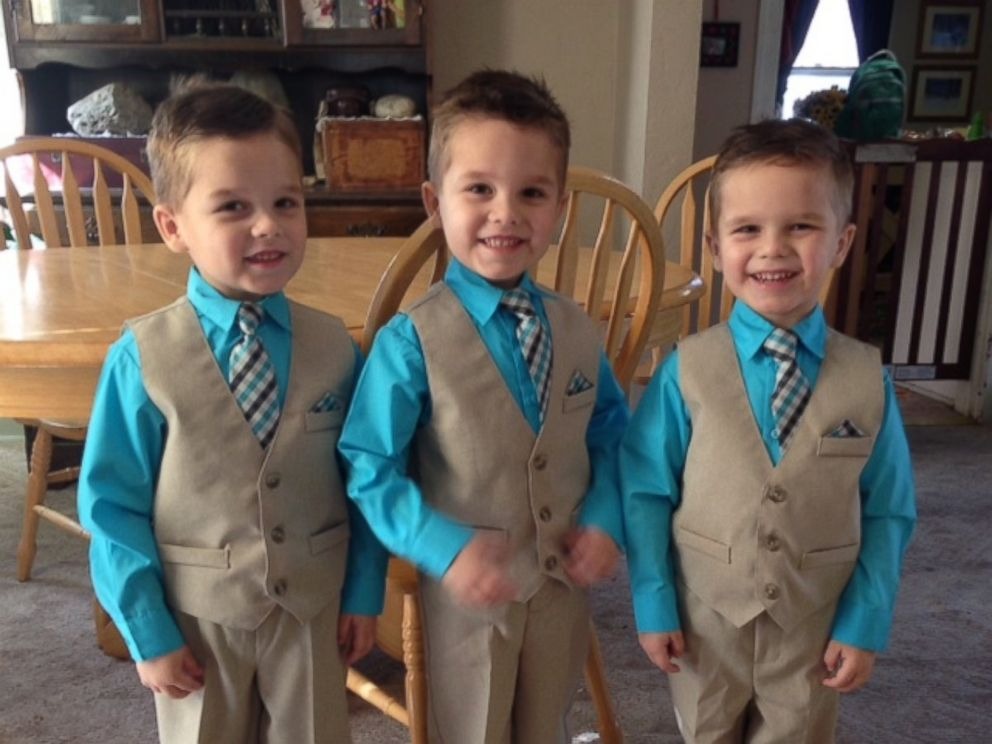 PHOTO: Shiela Weisgerber, 48, has been raising her 4-yearold grandsons, Bentley, Ashton and Dalton since the triplets were two months old.