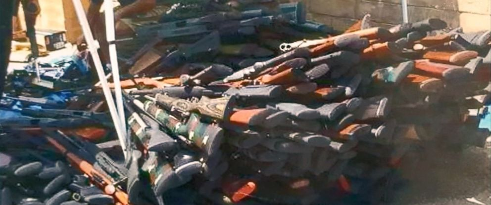 PHOTO: The heirs of a multi-million stockpile of guns have said they plan to destroy them.