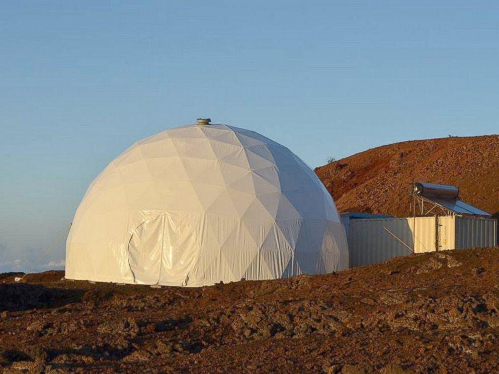 PHOTO: The HI-SEAS Mars Mission simulator at Mauna Loa volcano, in Hawaii.