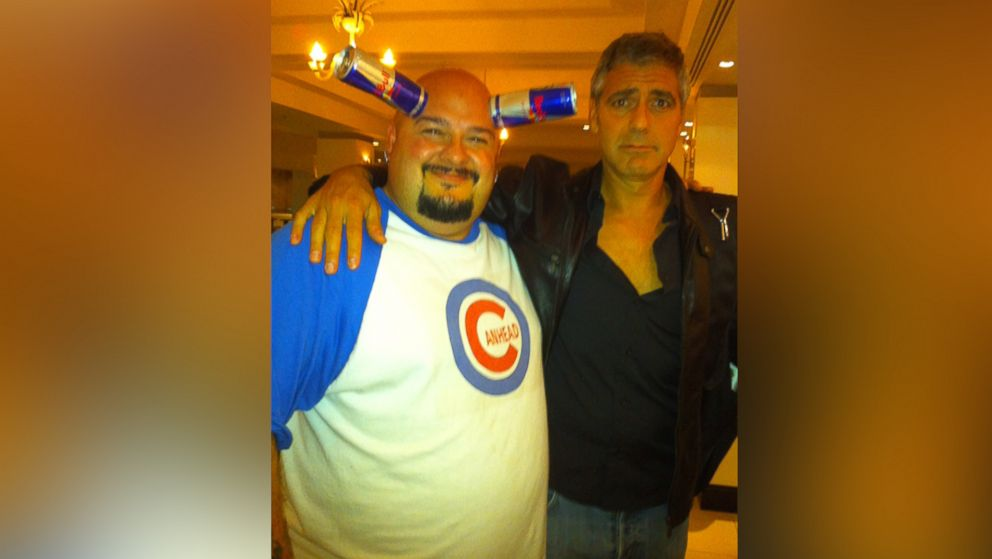 """Jamie """"Canhead"""" Keeton is pictured here with George Clooney."""