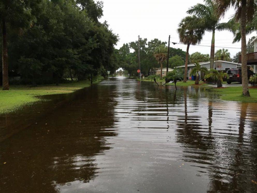 PHOTO: Flood waters caused by Hurricane Hermine ravaged a residential neighborhood in Saint Petersburg, Florida.