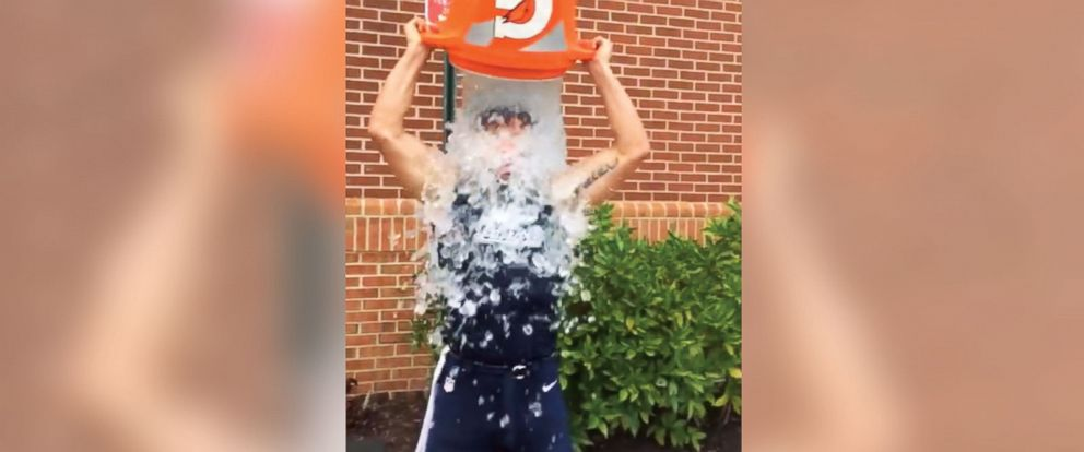 """PHOTO: Julian Edelman posted this image to Facebook with the caption, """"my #icebucketchallenge to raise awareness for ALS. I nominate Danny Amendola, Rob Gronkowski, and Tom Brady...you have 24 hours to accept this challenge."""""""