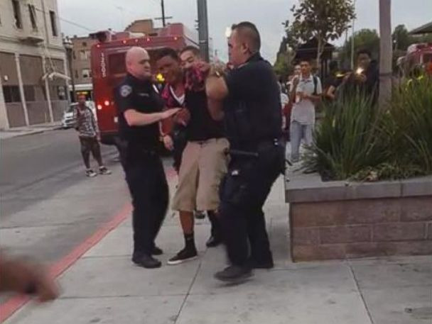 PHOTO: A video showing a confrontation between a Stockton teen and a police officer has gone viral.