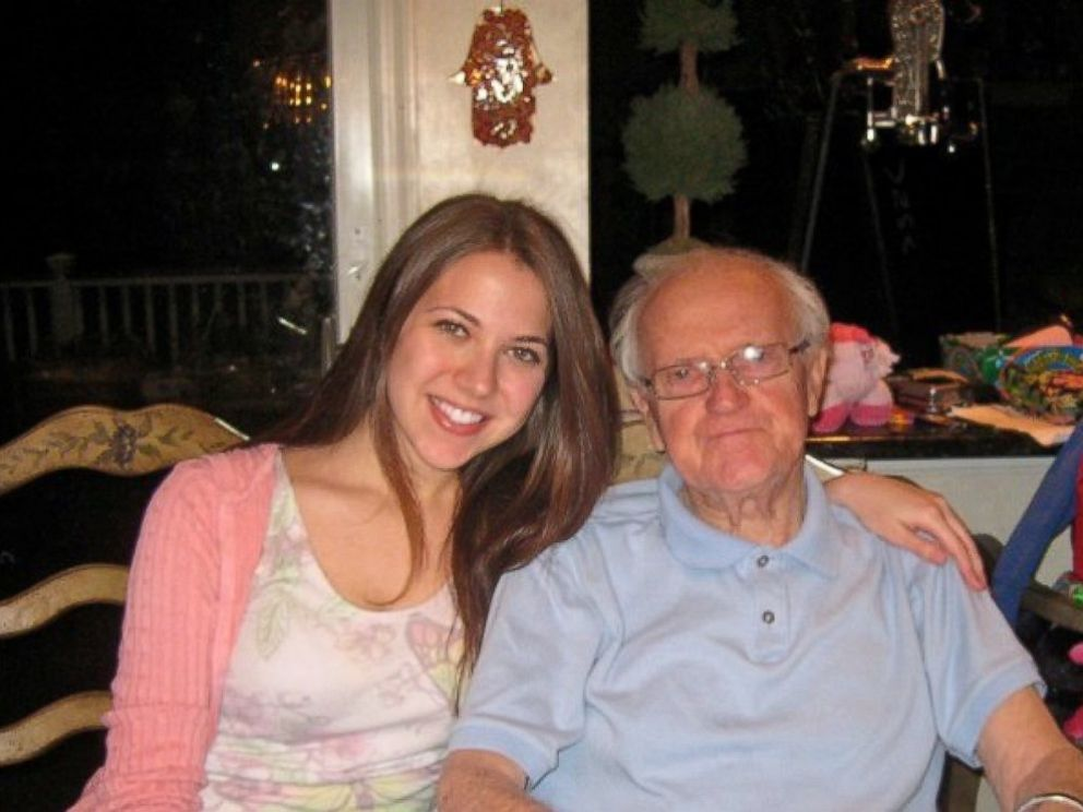 PHOTO: Jess Katz and her grandfather, Abram Belz, a holocaust survivor who lost his brother Abram.