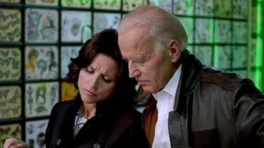 """PHOTO: Joe Biden and Julia Louis-Dreyfus took over the White House Correspondents Association Dinner with a parody video titled: """"Julia Louis-Dreyfus and Joe Biden: White House Correspondents Dinner 2014."""""""