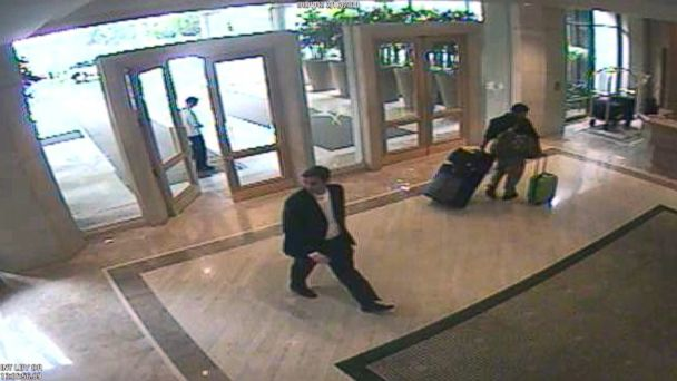 PHOTO: Kent Easter is seen here on hotel surveillance video walking towards the hotel phone booth, where the 911 call about Kelli Peters was made.