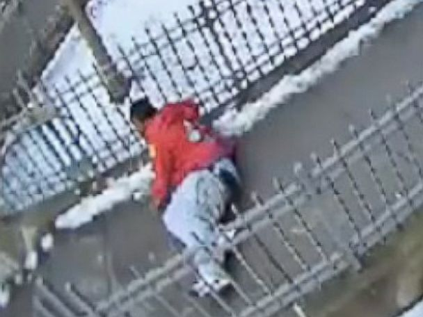 PHOTO: Surveillance video from December 2013 shows then 15-year-old Keston Charles lying on the ground outside his Brooklyn apartment building.