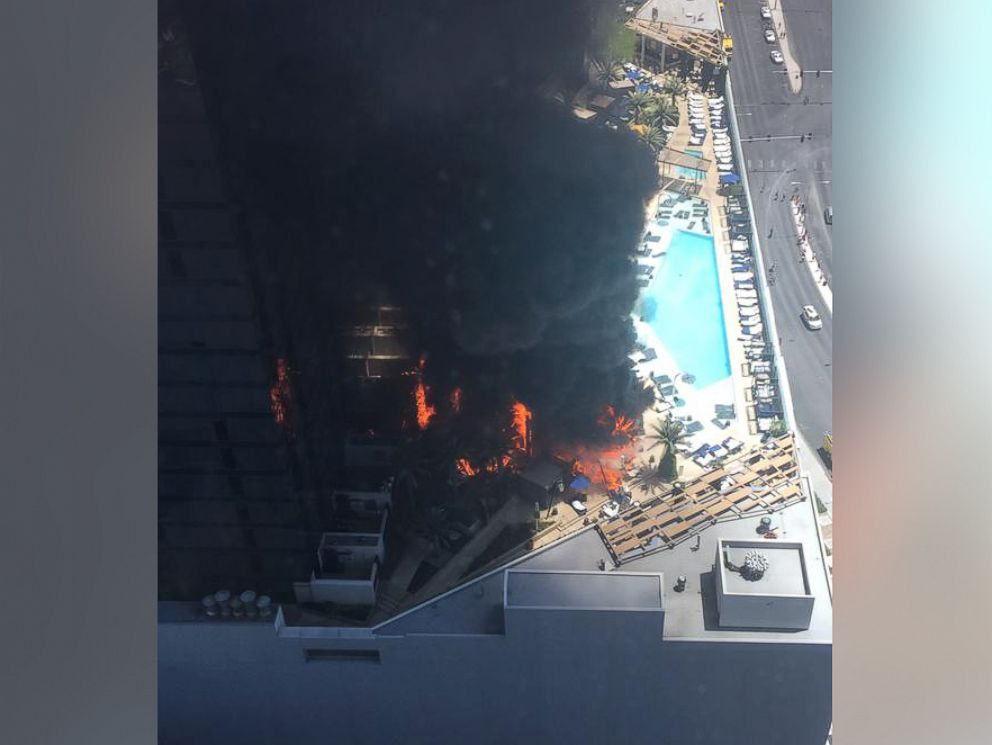 Pool Fire At Cosmopolitan Hotel Of Las Vegas Fueled By Cabanas