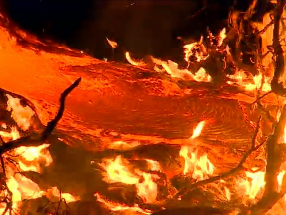 PHOTO: Residents in Pahoa, Hawaii are facing evacuation as a lava flow continues to advance.