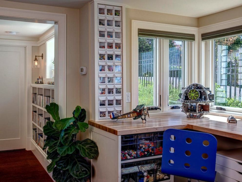 PHOTO: Jeff Pelletier built a smaller Lego area for another family that shares his favorite hobby.