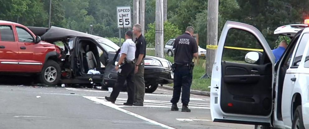 PHOTO: Four women were killed when their limo was struck by a pickup truck in Cutchogue, N.Y., July 18, 2015.