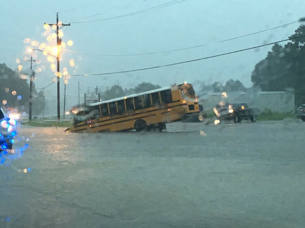 PHOTO: Alex Barfield posted this photo to Twitter on Aug. 12, 2016 showing the flooding in Louisiana.