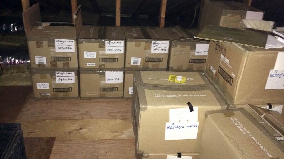 25 boxes of letters are stored at their home in Toms River, N.J.