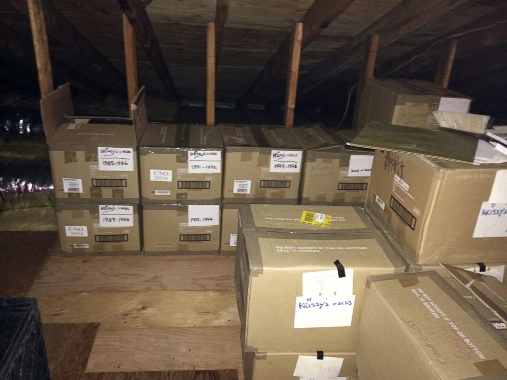 PHOTO: 25 boxes of letters are stored at their home in Toms River, N.J.
