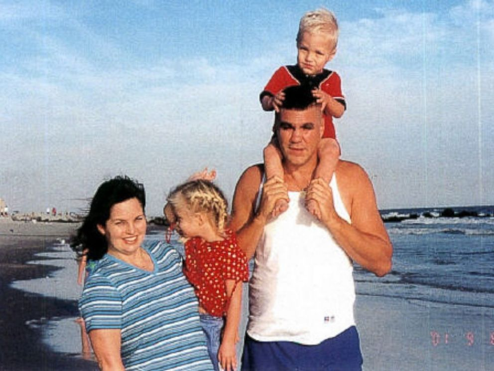 PHOTO: Katrina and Kenny Marino photographed on Sept. 8, 2001 with their children, Kristin, then 3, and Tyler, then 1, in Long Beach, New York. Kenny was a firefighter for New York City Fire Departments Rescue 1.