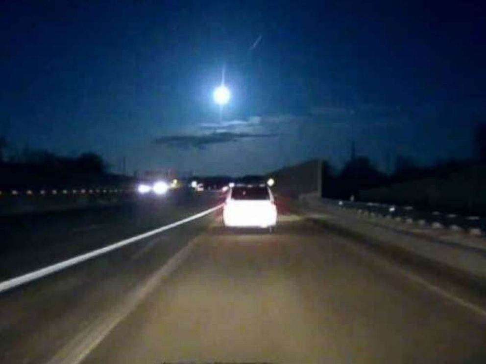 PHOTO: A Michigan motorist shares dashcam footage of what appears to be a meteor flashing across the sky.