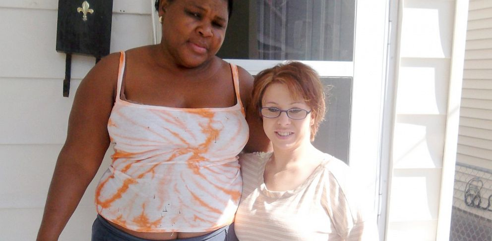 PHOTO: Michelle Knight posed for a picture with neighbor Altagracia Tejeda