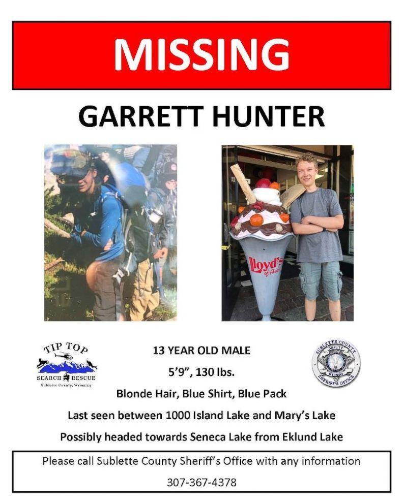 PHOTO: Garrett Hunter of Draper, Utah, was last seen near Mary's Lake in the Wind River Range area of Wyoming.