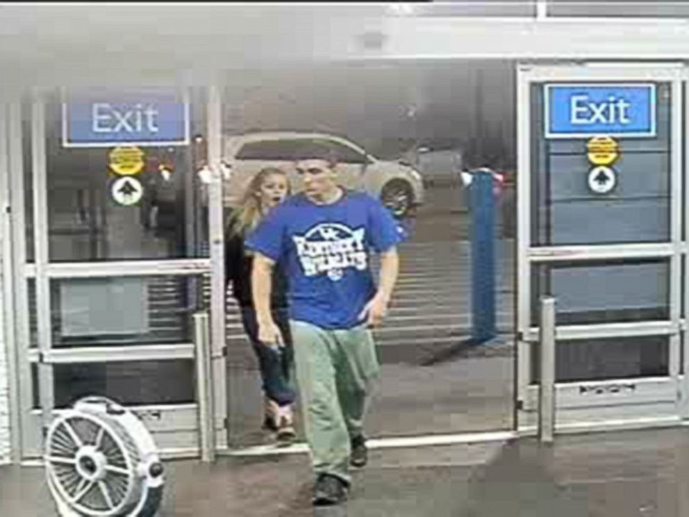 PHOTO: Surveillance images from a Manning, South Carolina Walmart released Jan. 15, 2015 by the Grayson County, Kentucky Sheriffs Office show Dalton Hayes, 18, and Cheyenne Phillips, 13.