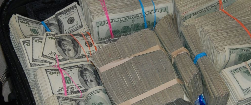 PHOTO: Cash found at the Cabello familys home is pictured here.