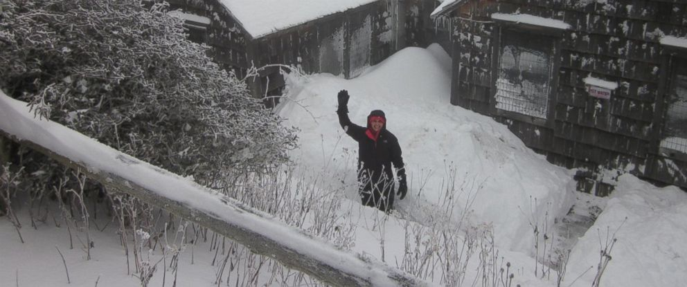 PHOTO: The scene at the LeConte Lodge on Mt. LeConte, Tenn. which received nearly two feet of snow on Nov. 1, 2014.