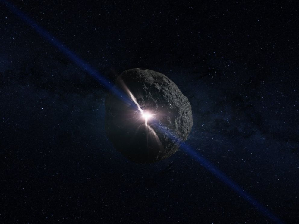 PHOTO: This is an artists concept of the impact that created the asteroid Bennu.