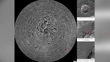 PHOTO: A new interactive mosaic from NASAs Lunar Reconnaissance Orbiter covers the north pole of the moon from 60 to 90 degrees north latitude at a resolution of 6-1/2 feet (2 meters) per pixel.