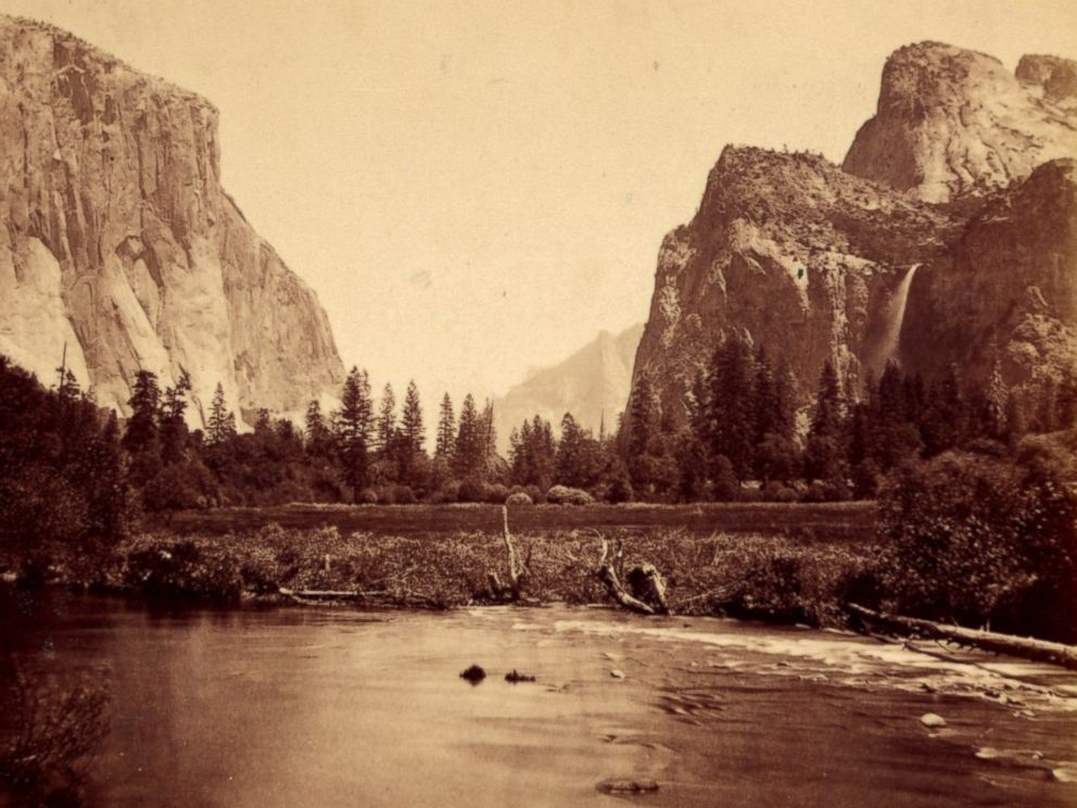 PHOTO: View up the valley from the Coulterville Road, Yosemite Valley, Cal. 1861-1873.