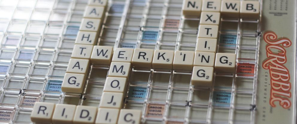 "PHOTO: Slang words like ""hashtag,"" ""emoji"" and ""twerking"" are just a few of the 6,500 new words that have been were to Collins Dictionary, Scrabbles official word list, on May 21, 2015."