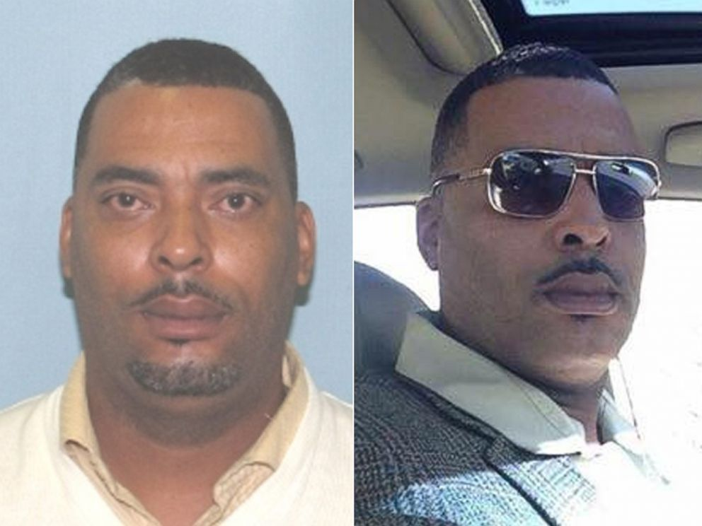 PHOTO:Fugitive 45-year-old Donald A Chip Pughs mugshot and the selfie he sent Lima Police Department in Ohio because he didnt like his mugshot are pictured.