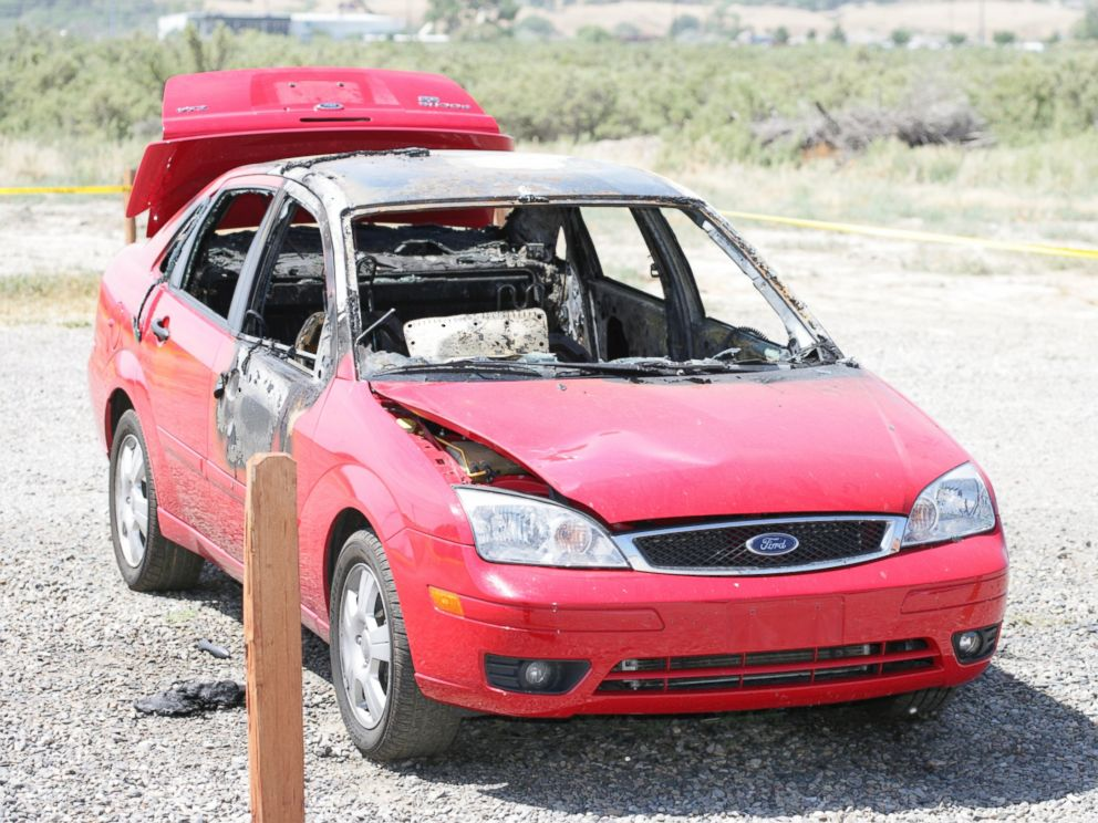 PHOTO: Paige Birgfelds red Ford Focus, pictured here, was found on fire in a parking lot two miles from her Grand Junction, Colorado, home.