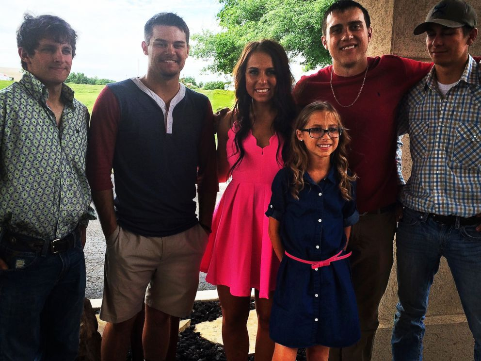 PHOTO: (From left to right) Grandchildren Brody Harmon, Brock Harmon, Kelsey Harmon, Bryn Harmon, Kaleb Harmon and Brandon Harmon. All of them, except for Kelsey, who will be playing in a softball game, are attending Papaws cookout, March 26, 2016.