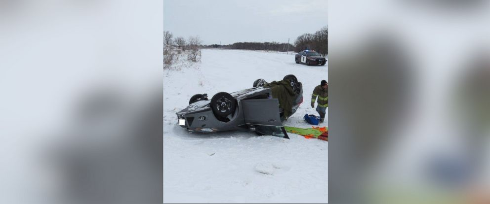 PHOTO: The Minnesota State Patrol posted photos from a Feb. 14 rollover crash in Pennington County
