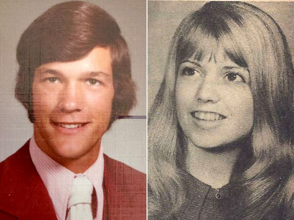 PHOTO: Marilyn Mecham, right, was in her first year teaching when she had Kevin Perz as a student, both pictured here in undated high school yearbook photos.