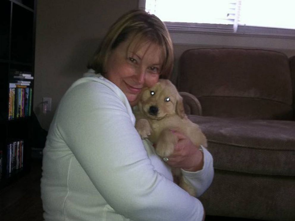 PHOTO: Allison Marks and Colby when she first brought him home.